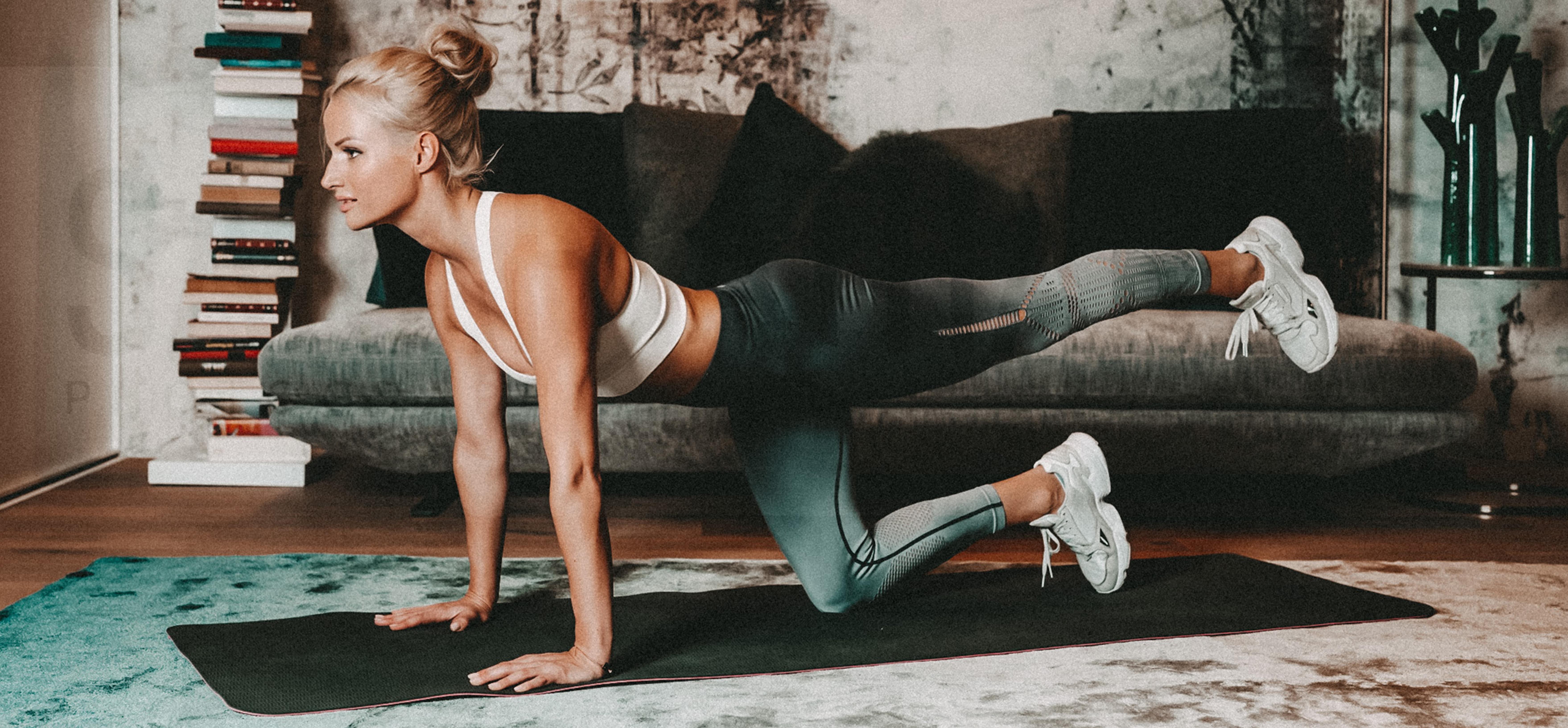 Bild von Mena während eines Stretchings