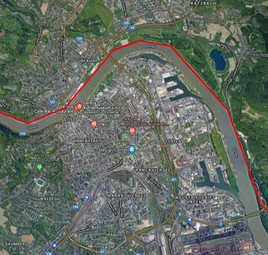 Laufstrecken Linz City Outlet Blog Philipp Rafetseder Donaulende Urfahr