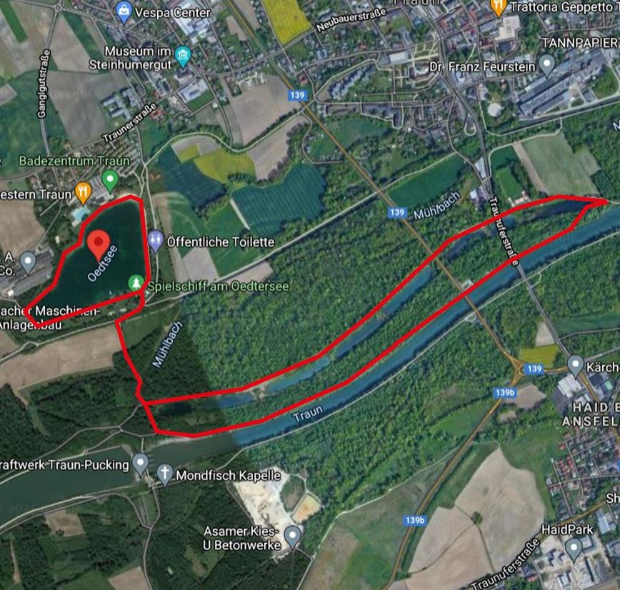 Laufstrecken Linz City Outlet Blog Philipp Rafetseder Oedter See