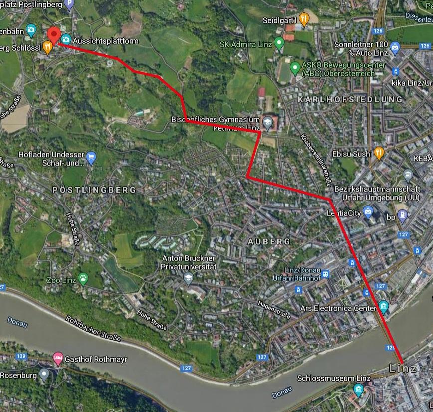 Laufstrecken Linz City Outlet Blog Philipp Rafetseder Pöstlingberg