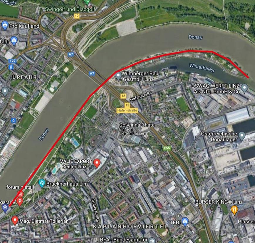 Laufstrecken Linz City Outlet Blog Philipp Rafetseder Winterhafen