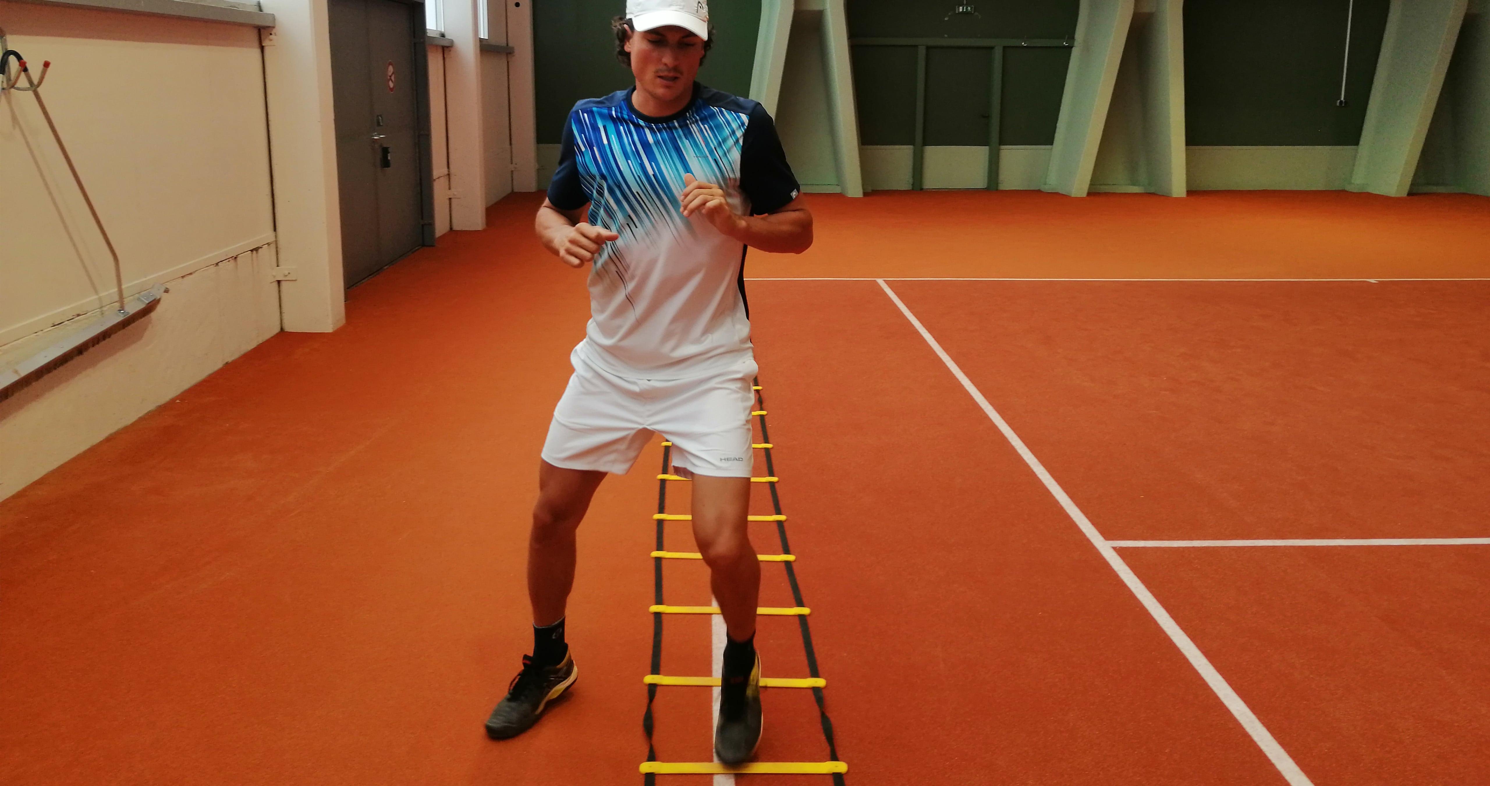 Fehler beim Tennis City Outlet Blog Dominik Wirlend Beinarbeit